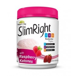 SLIM RIGHT STRAWBERRY POWDER 375GM