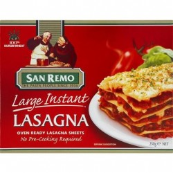 LARGE INSTANT LASAGNA 250GM