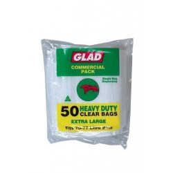 HEAVY DUTY GARBAGE BAG CLEAR 50S