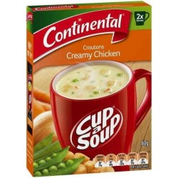 CUP-A-SOUP 2 SERVE CREAMY CHICKEN CROUTON