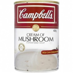 CONDENSED SOUP CREAM OF MUSHROOM 420G