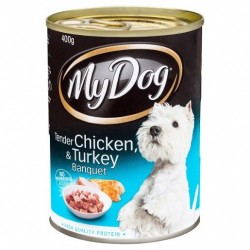 TENDER CHICKEN and TURKEY DOG FOOD 400G