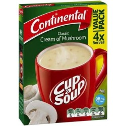 CUP-A-SOUP 4 SERVES CREAM OF MUSHROOM
