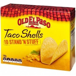 STAND AND STUFF TACO SHELLS 140G