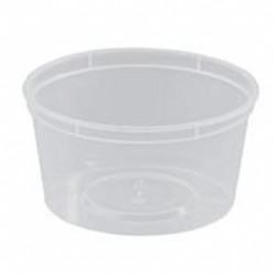 ROUND PLASTIC CONTAINER 16OZ 440ML 50S