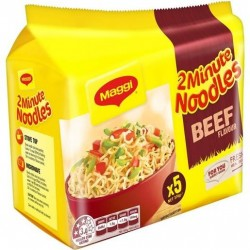 BEEF TWO MINUTE NOODLES 5 PACK 74g