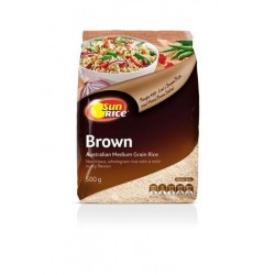 BROWN MEDIUM GRAIN RICE 500GM