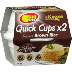 BROWN LONG GRAIN RICE CUP 2 PACK 250GM