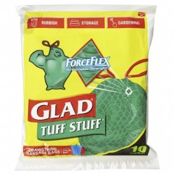 GARBAGE BAG DRAWSTRING TUFF STUFF 56LT 10S