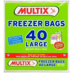 TEAR OFF LARGE FREEZER BAGS 40S