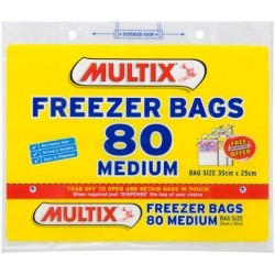 TEAROFF MEDIUM FREEZER BAGS 80S